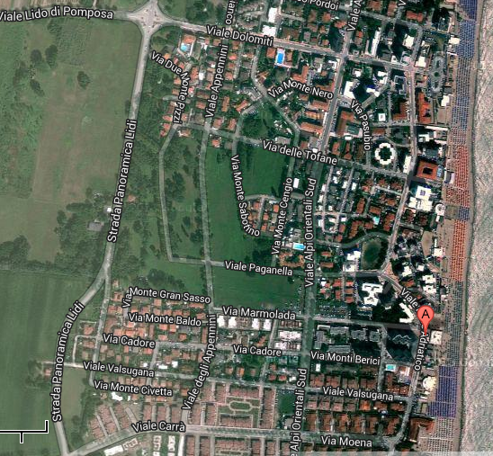 Mappa Lido di Pomposa